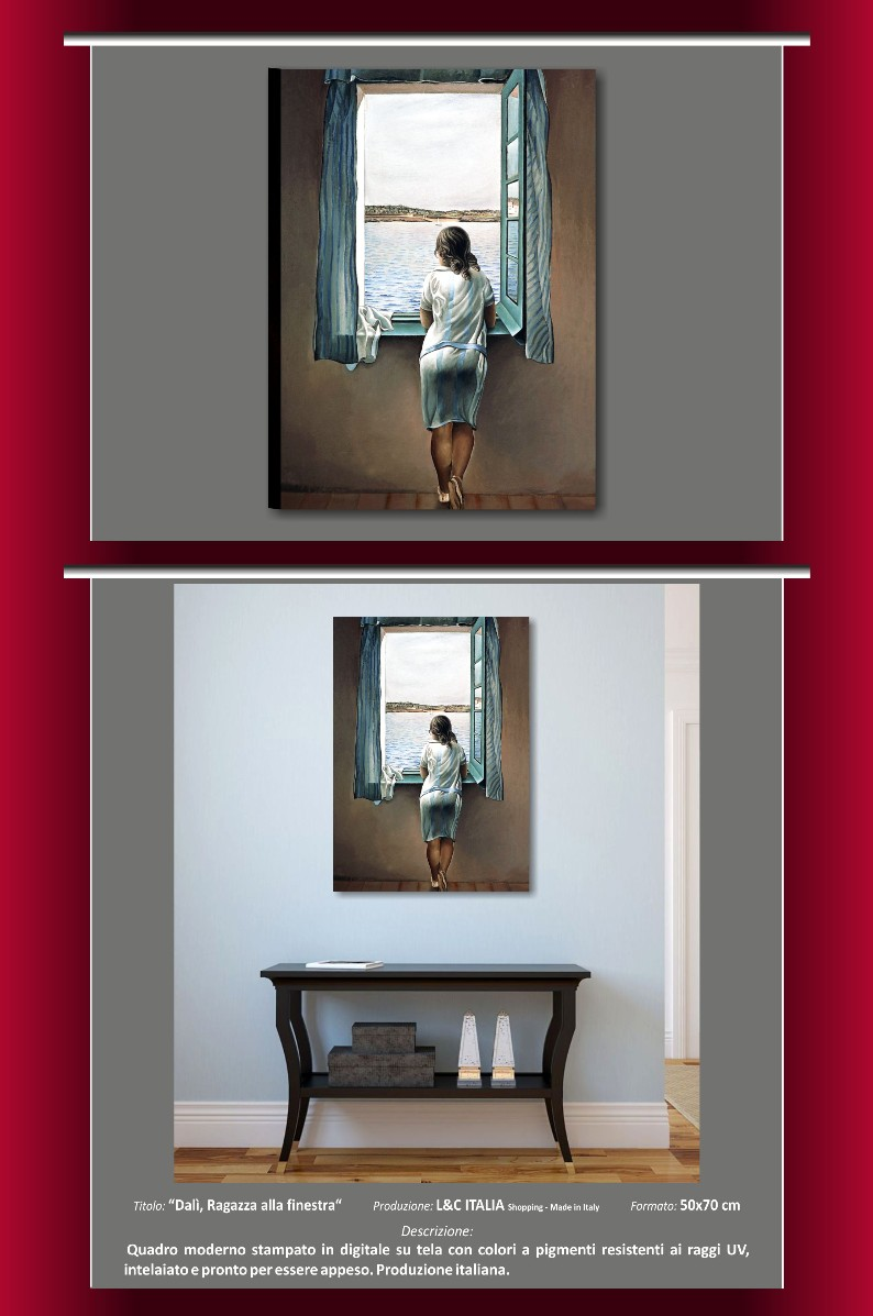 Dal Ragazza Alla Finestra Quadro Moderno 50x70 Quadri Su