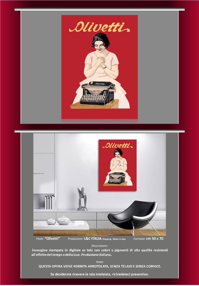 Olivetti stampa su tela per quadro 50x70 poster for Poster arredo casa