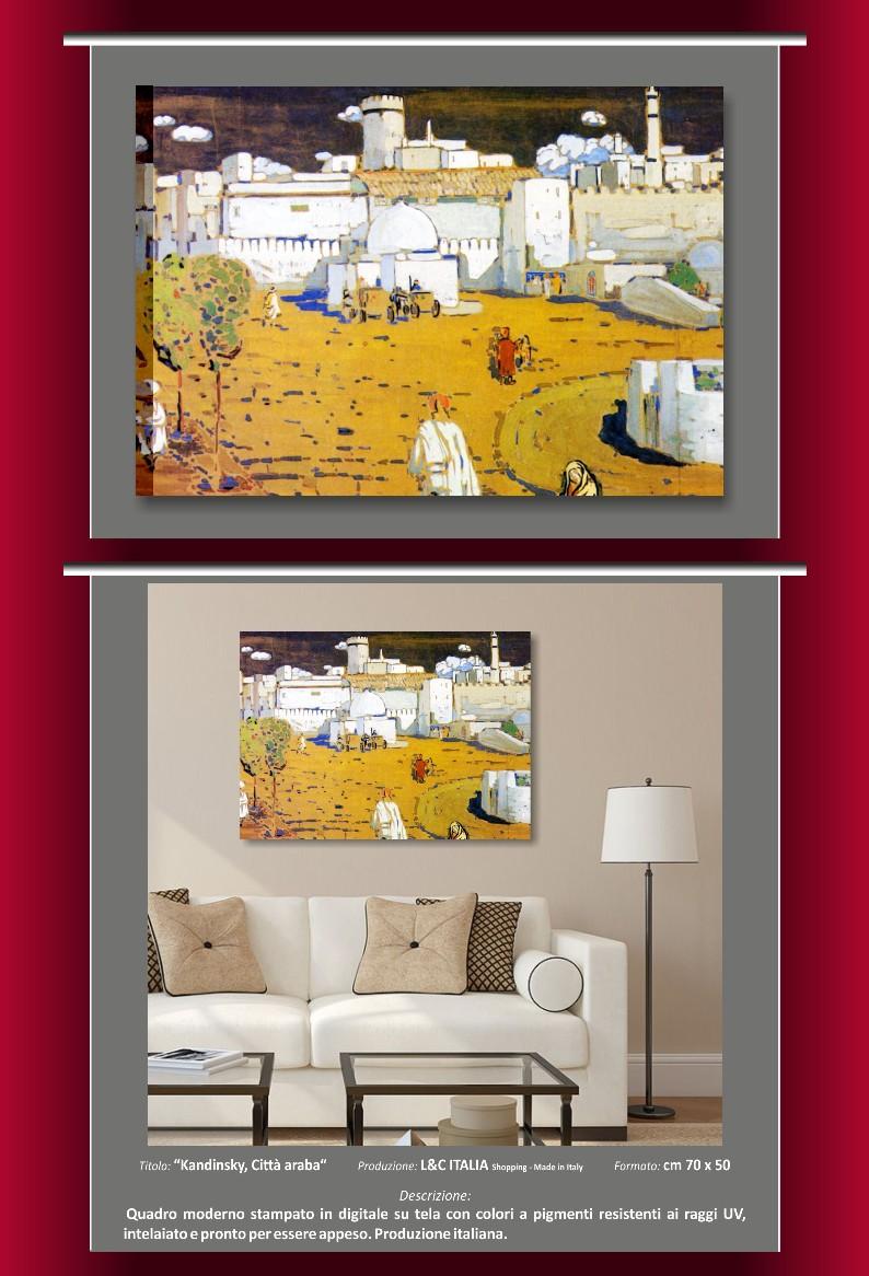 Kandinsky quadri moderni stampa su tela quadro arredamento casa ufficio arte - Quadri arredamento casa ...