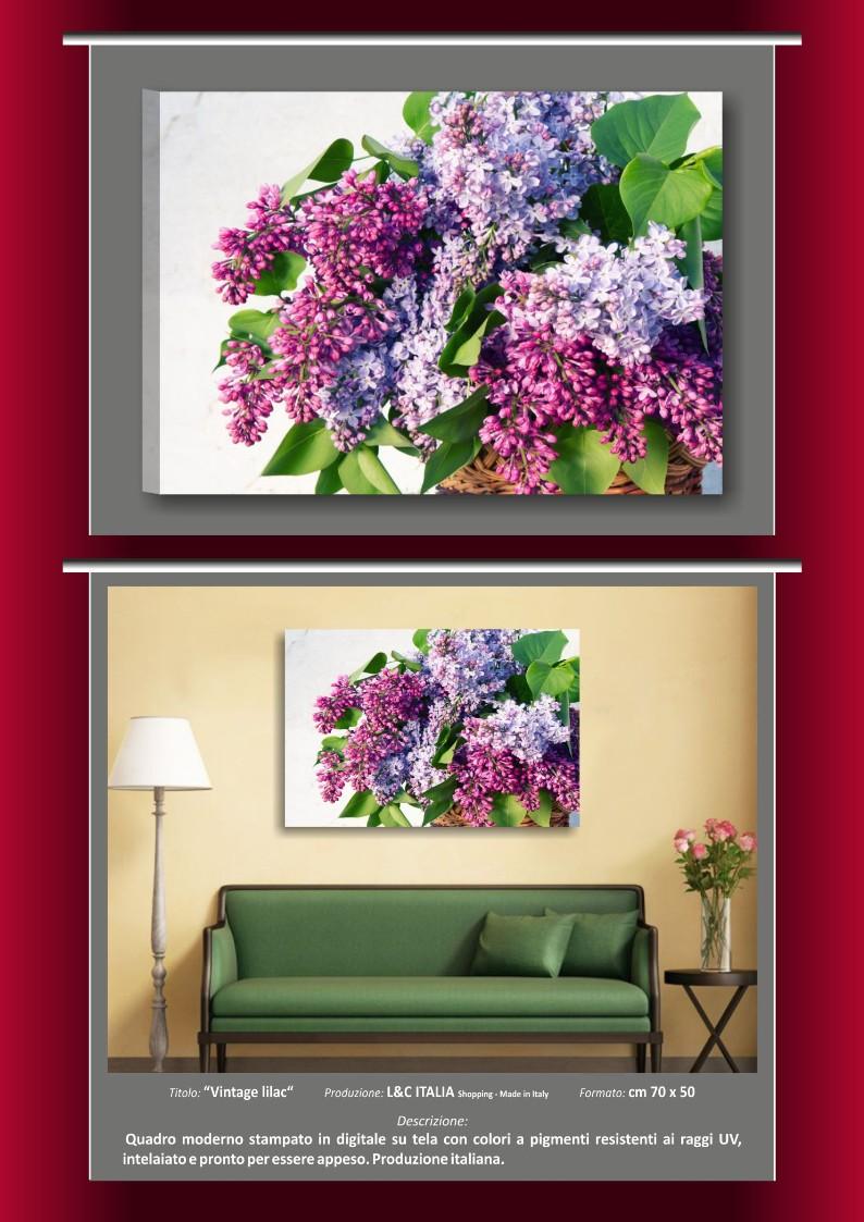 Quadri moderni vintage shabby chic arredamento stampe tela fiori ...