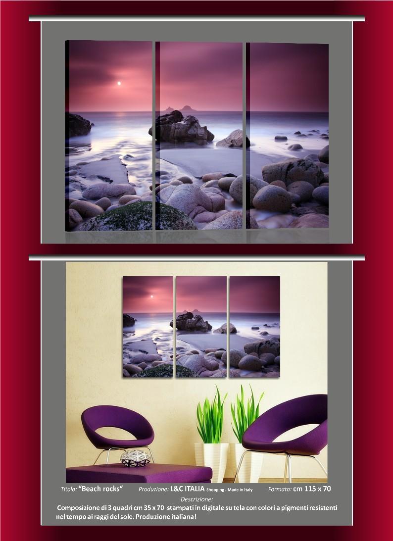 Quadri moderni arredamento casa ufficio stampa tela paesaggi fiori ...