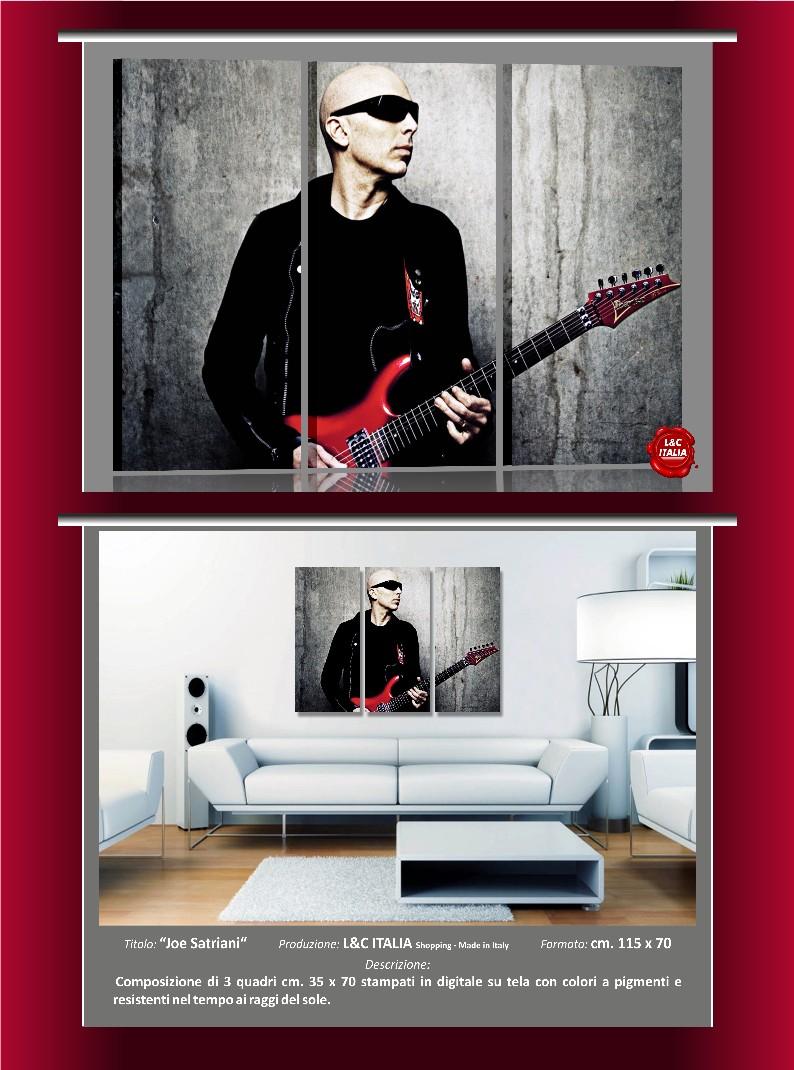 Joe satriani 3 quadri moderni casa arredamento stampa for Poster arredo casa