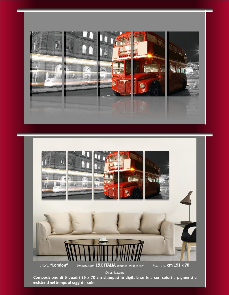 Quadri moderni 191x70 skyline londra new york manhattan for Quadri arredamento casa