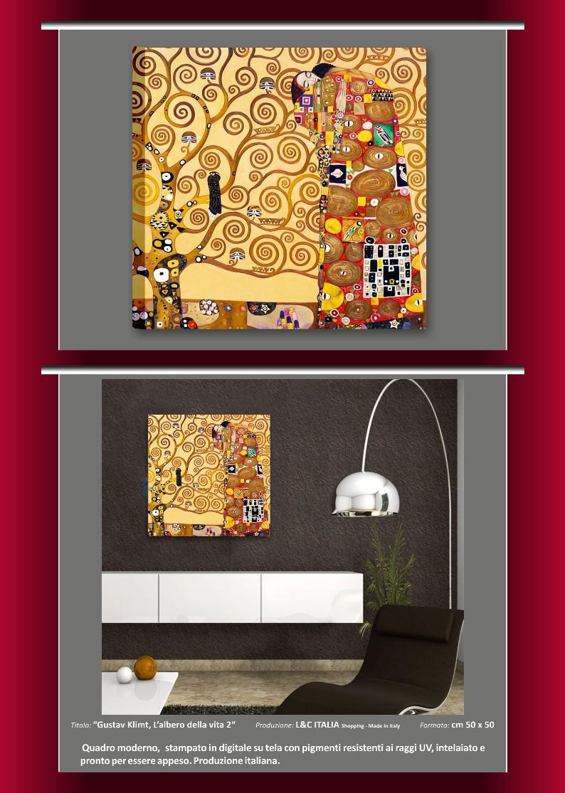 Gustav klimt quadri moderni arte quadro albero vita il for Ebay quadri