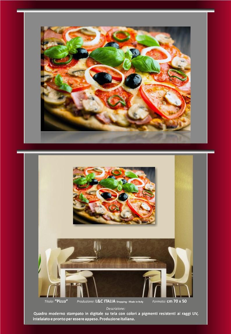 Pizza quadro moderno quadri arredamento casa cucina bar for Arredamento pizzeria moderno